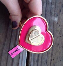 Betsey Johnson Pink Heart Hinged Bracelet