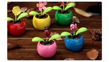 4pcs Solar Powered Flower ladybug butterfly Dancing Swing Sunflower Car Decor