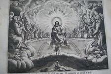 GRAVURE SUR CUIVRE CIEL OUVERT SAINT JEAN-BIBLE 1670 LEMAISTRE DE SACY (B247)