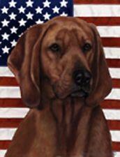 Patriotic (D2) Garden Flag - Redbone Coonhound 324041