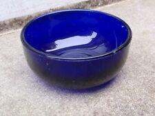 ANTIQUE VINTAGE BRISTOL BLUE REPLACEMENT GLASS LINER SALT SUGAR BOWL DISH POT