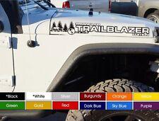 "Jeep Wrangler TrailBlazer Hood Decals Sticker Pair (2) 3"" x 30"" Pick Color"