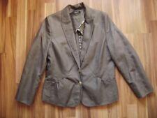 @ ESPRIT @ Blazer grau Gr. 40 Size L UK 16 US 12 B/F 42 I 44 Baumwolle/Flax NEU