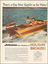 1956 Vintage ad for Johnson Sea Horses Boat Motor Holiday Bronze retro  091217