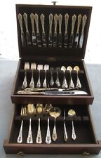 81 Pcs Huge Set for 12, Wallace Sterling Silver Rose Point Flatware w/ Serving