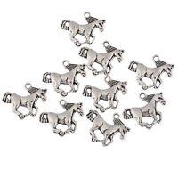 10pcs Horse Galloping pendant Tibetan Silver beads charms Fit European Bracelet