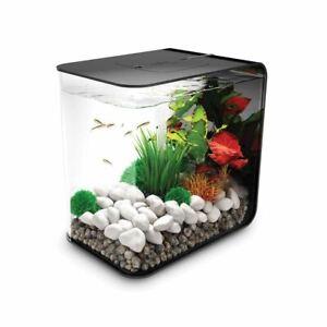 BIORB FLOW 15L BLACK AQUARIUM ALL IN ONE FISH TANK KIT FILTER LED MCR LIGHTING