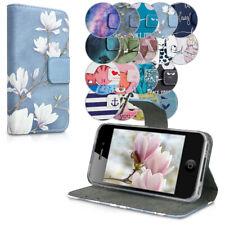Hülle für Apple iPhone 4 4S Kunstleder Wallet Case Cover Handy Schutzhülle