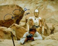 ANTHONY DANIELS signed Autogramm 20x25cm STAR WARS In Person autograph COA C-3PO