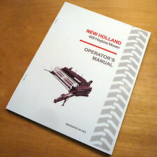 New Holland 469 Haybine Mower Conditioner Operators Owners Book Guide Manual Nh