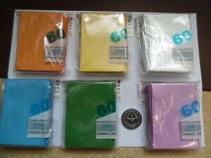 Yu-Gi-Oh! 6 verschiedenfarbige Packungen Schutzhüllen / Sleeves + DUEL COIN !!!
