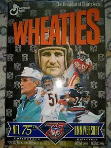 1995 75th Anniversary NFL Wheaties Box Jerry Rice, Walter Payton