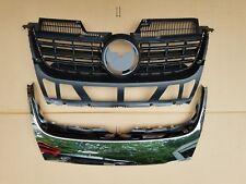 2PC Set 2005-2010 JETTA Front Bumper Upper Grille w Chrome Molding Trim NEW PAIR