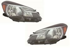 TOYOTA YARIS HB 2015-2017 RIGHT LEFT HEADLIGHTS HEAD LIGHTS FRONT LAMPS PAIR