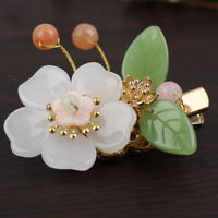 Handmade Classic Pearl jade Hair Clip Hairpin Hair Stick Women Hanfu Cosplay
