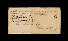 Northfield MA 1840 letter transmitting County Treasurer Voter Election Results