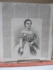Vintage Print,MARIA PICCOLOMINI,Ballous,Homer,Boston,Feb 1859