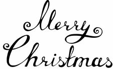 Christmas - Merry Christmas #3 Unmounted Clear Stamp Approx 75x75mm
