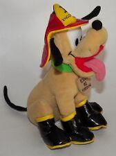 "Firedog Pluto Bean Bag Plush 8"" Disney Stuffed Animal Toy Mickey Mouse Dog"