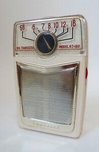 BEAUTIFUL 1950's  CRESTLINE 6T-180  6 TRANSISTOR POCKET RADIO MADE IN JAPAN
