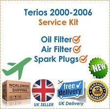für Daihatsu Terios 1.3 DVVT 2000-2006 ÖL Luftfilter & Zündkerzen Wartungssatz