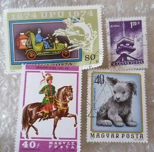 Stamp- Magyar Posta Stamp - lot of 4 (Used)