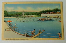 POSTCARD THE CONEY ISLAND SUNLITE SWIMMING POOL CINCINNATI OHIO #7309uj