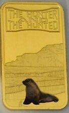 Somalia 2013 Goldplated Color Rectangular 25 shilling-Fauna-Seal