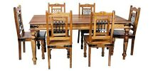 Brand New Jali - Indian Solid Sheesham Wood - 1.8 DINING TABLE AND 6 CHAIRS