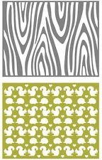 Lifestyle Crafts GooseBumpz, Double Pack, A2 Embossing Folders WOODLAND ~ EF0025