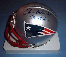 New England Patriots Chris Baker Signed Autographed Mini Helmet New York Jets