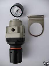 """1pc Air Pressure Regulator 1/4""""NPT 2500 L/min Gauge Bracket MettleAir AR3000-N02"""