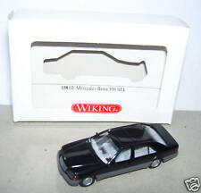 RARE WIKING HO 1/87 MERCEDES BENZ 500 SEL LIMOUSINE NOIRE in BOX 1