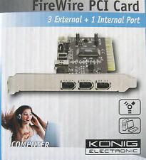 FireWire PCI card- carte PCI pour ajouter 4 ports FireWire /3 externes+1 interne