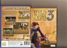 WILD ARMS 3 PLAYSTATION 2 PS2 PS 2 RARE WILD WEST RPG
