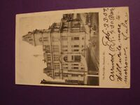 HANNIBAL MISSOURI THE POST OFFICE HORSE AND BUGGY VINTAGE POSTCARD POSTED