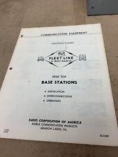 Vintage RCA VHF Communication Equipment