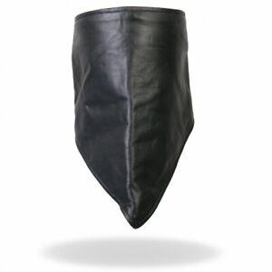 Leather Fleece Lined Motorcycle Biker Neck Black Warmer Bandanna Scarf NWK1002