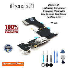 NEW iPhone 5S Replacement Lightning Port/Charging Dock + Headphone Jack - WHITE