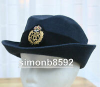 UK MOD SURPLUS LADIES RAF CAP SERVICE No.1-2 DRESS HAT,RAF BLUE-ROYAL AIR FORCE