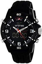 U.S. Polo Assn. Sport Mens Analog-Digital Watch W/ Black Silicone Band