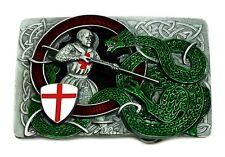 ST George & Il Drago Celtico Fibbia della Cintura Bandiera Inglese patriottico Autentico