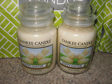 Yankee Candle HAPPY EASTER Set of Two (2)  Large Jar 22 oz Candle Bunnies Bunny