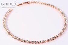 LE BIJOU rosé-vergoldetes Damen Tennis-Collier Halskette mit Swarovski Elements