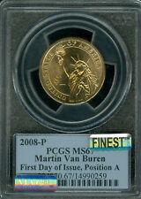2008-P M. VAN BUREN PRES DOLLAR PCGS MS67 PQ FDI POS-A MAC FINEST MAC SPOTLESS *