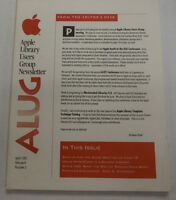 Apple Library Users Group Magazine Hypercards School April 1991 100214R1