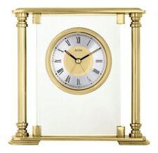 Brass Analogue Traditional Desk, Mantel & Carriage Clocks