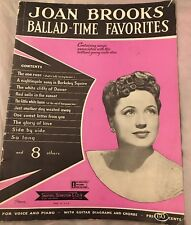 Joan Brooks Ballad Time Favorites Song Book 1944