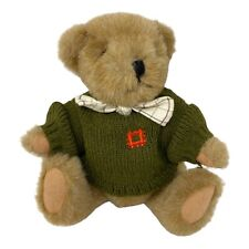 """English Heritage Jointed Teddy Bear 9"""" Soft Plush Toy Knit Jumper Sweater"""