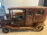 """Vintage Model T Ford Station Wagon Prototype Model A Wooden Hand Made Large  17"""""""